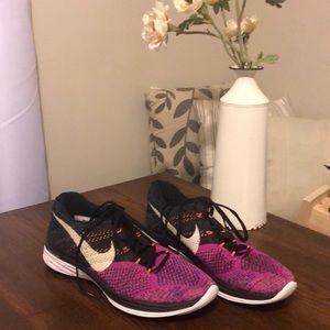 Nike Flyknit Lunar 3 women's 11.5 purple black